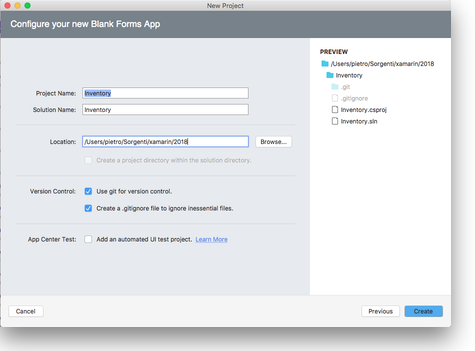 Visual Studio for Mac - create Project Template - step 3
