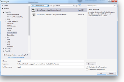 Visual Studio for Windows - create Project Template - step 1
