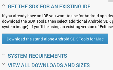 Android SDK Tools for Mac